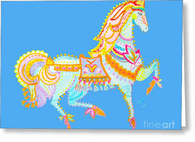 Puppy Digital Art Greeting Cards - Wild horse by Keira Lagunas Greeting Card by Keira  Lagunas