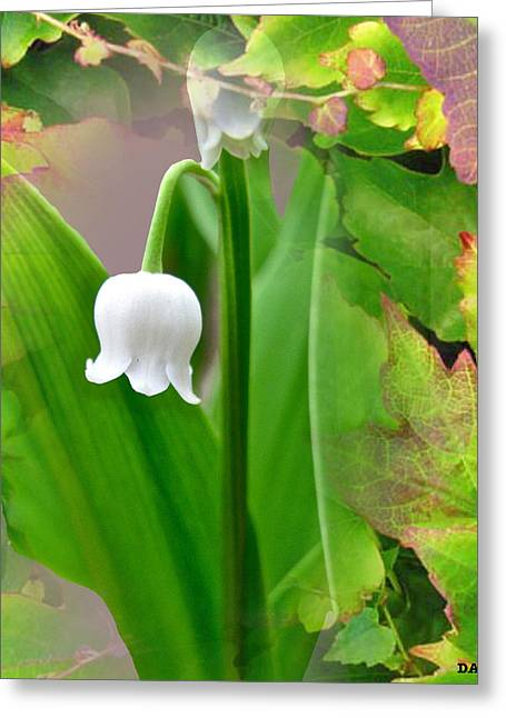 Striking Images Mixed Media Greeting Cards - Wild Lily Bell Greeting Card by Debra     Vatalaro