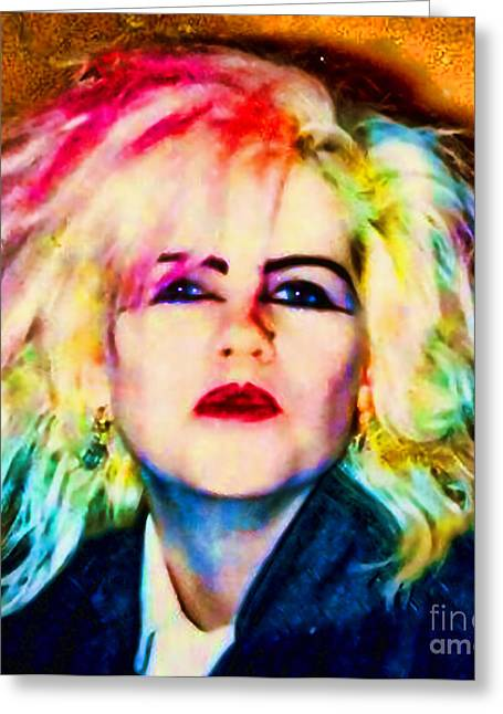 Colorfull Hair Greeting Cards - Wild One Greeting Card by Kim Shatwell-Irishphotographer