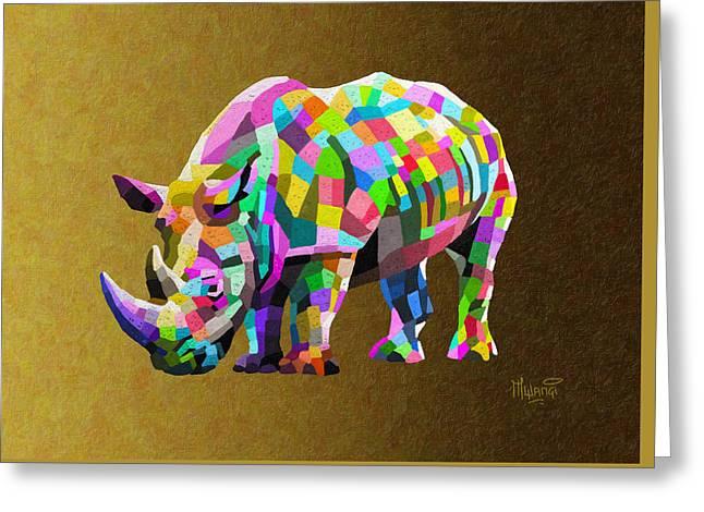 Wild Rainbow Greeting Card by Anthony Mwangi