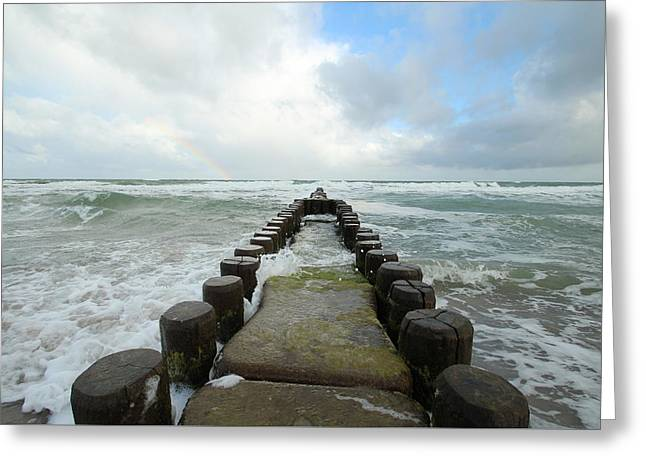 Baltic Sea Greeting Cards - Wild Sea Greeting Card by Heike Hultsch