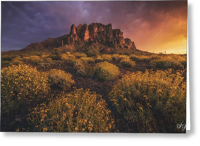 Photography Lightning Greeting Cards - Wild Superstitions Greeting Card by Peter Coskun