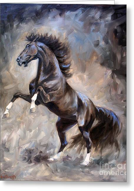 Wild Horses Greeting Cards - Wild Thing Greeting Card by Jeanne Newton Schoborg