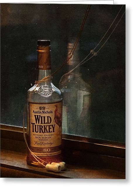 Brenda Bryant Photography Greeting Cards - Wild Turkey in Window Greeting Card by Brenda Bryant
