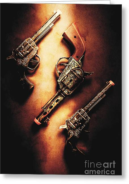 Wild West Cap Guns Greeting Card by Jorgo Photography - Wall Art Gallery