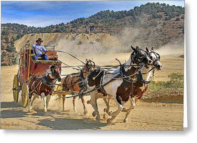 Wild West Ride Greeting Card by Donna Kennedy