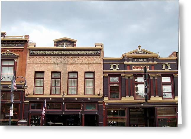 Main Street Greeting Cards - Wild West Town Greeting Card by Gayle Deel