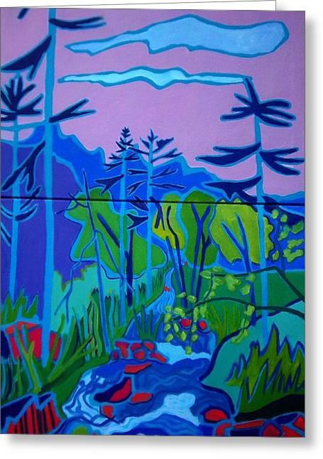Wildcat River Jackson Nh Greeting Card by Debra Bretton Robinson