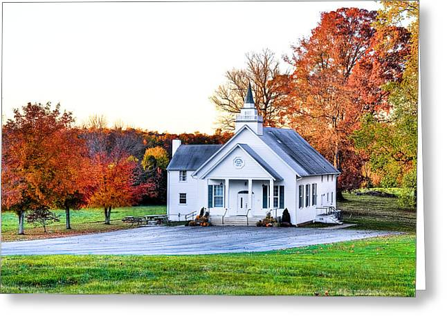 Recently Sold -  - Fall Grass Greeting Cards - Wilderness Church Greeting Card by Scott Hansen