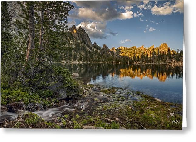 Wilderness Lake Greeting Card by Leland D Howard