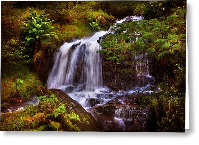 Spiritual Art Photos Greeting Cards - Wilderness. Rest and Be Thankful. Scotland Greeting Card by Jenny Rainbow