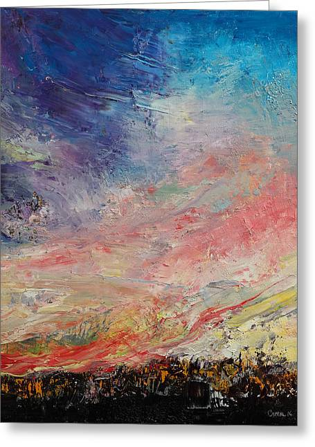 Wildfire Greeting Card by Michael Creese
