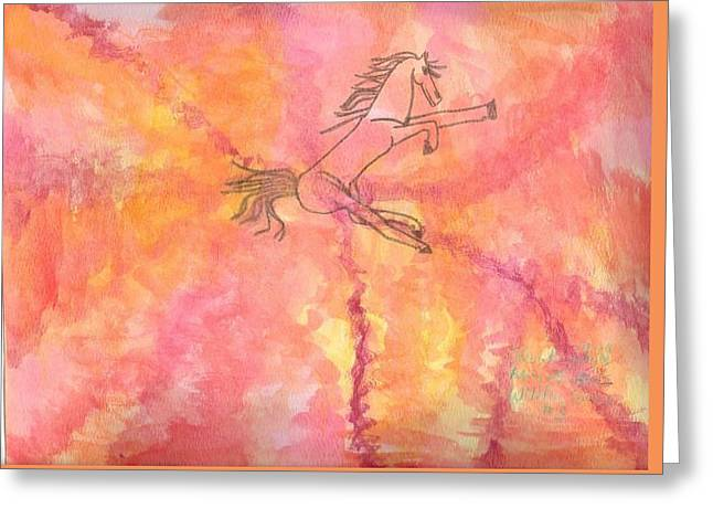 Coloured Greeting Cards - Wildfire Series #3 Greeting Card by Sabne  Raznik