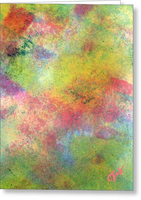 Abstract Expression Greeting Cards - Wildflower Landslide Greeting Card by Ken OToole