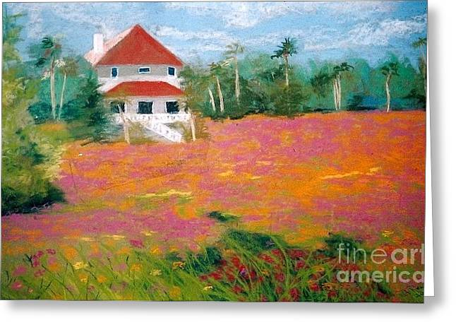 Summer Scene Pastels Greeting Cards - Wildflowers at Seabrook Greeting Card by Patricia Huff