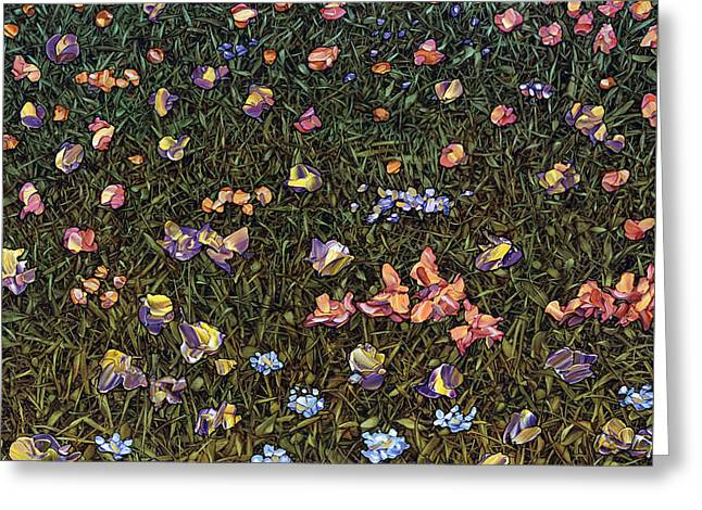 Fragment Greeting Cards - Wildflowers Greeting Card by James W Johnson