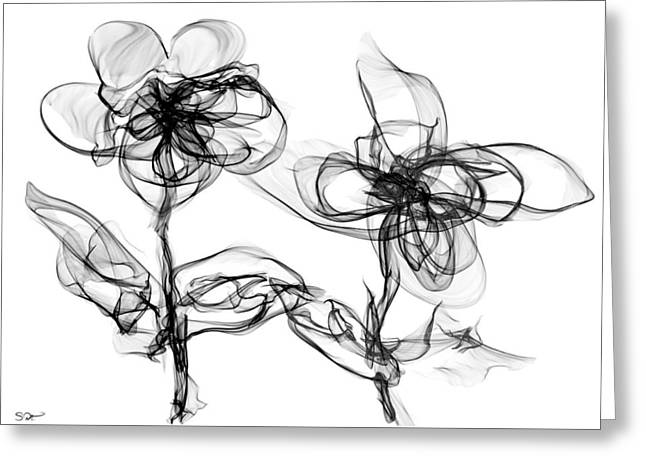 Wildflowers Kissing Greeting Card by Abstract Angel Artist Stephen K