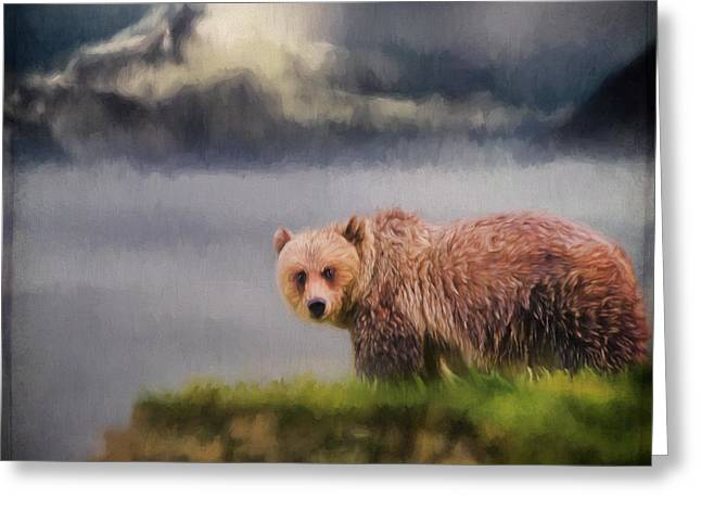 Wildlife Art - The Call Of The Wild Greeting Card by Jordan Blackstone