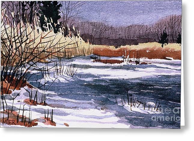 New Jersey Paintings Greeting Cards - Wildlife Reserve Greeting Card by Donald Maier
