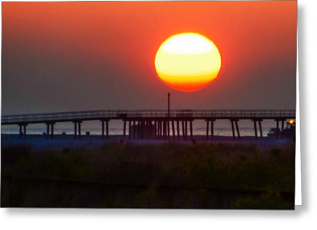 Bill Cannon Photography Greeting Cards - Wildwood Crest Pier at Sunrise Greeting Card by Bill Cannon