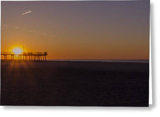Ocean Panorama Digital Art Greeting Cards - Wildwood Crest Pier Panorama Greeting Card by Bill Cannon