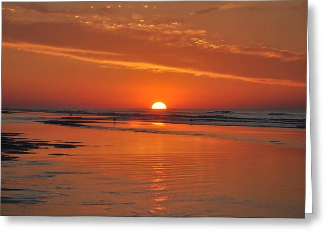 Wildwood Greeting Cards - Wildwood Crest Sunrise Greeting Card by Bill Cannon
