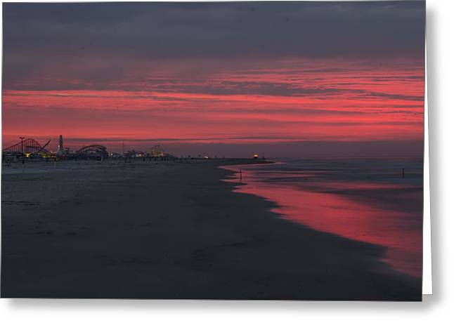 Wildwood Greeting Cards - Wildwood - Red Sky in the Morning Greeting Card by Bill Cannon