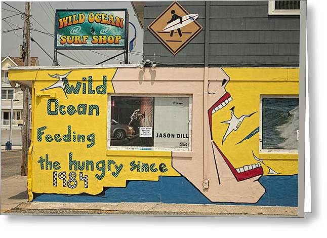 Artist Photographs Greeting Cards - Wildwood Wild Ocean Surf Shop Greeting Card by Kristia Adams