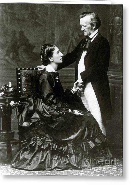 Wilhelm And Cosima Wagner Greeting Card by Science Source