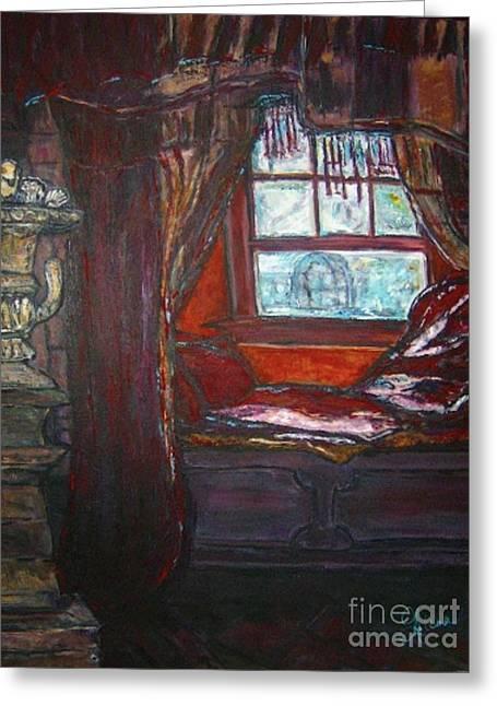 Helena Bebirian Greeting Cards - Wilhelminas Windowseat Greeting Card by Helena Bebirian