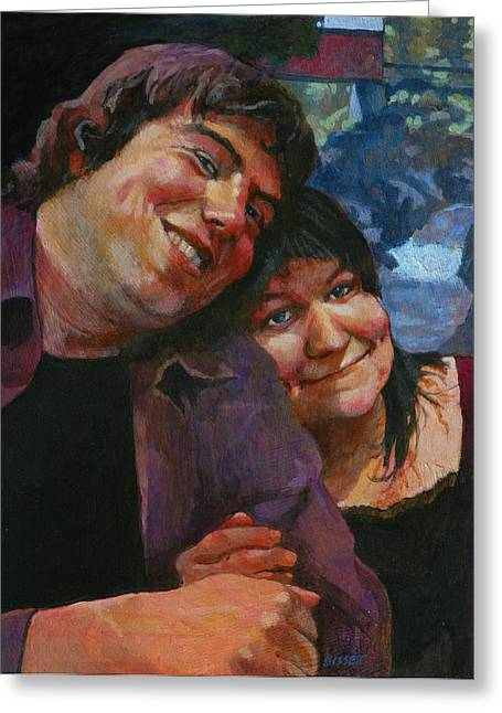 Will And Britta Greeting Card by Robert Bissett