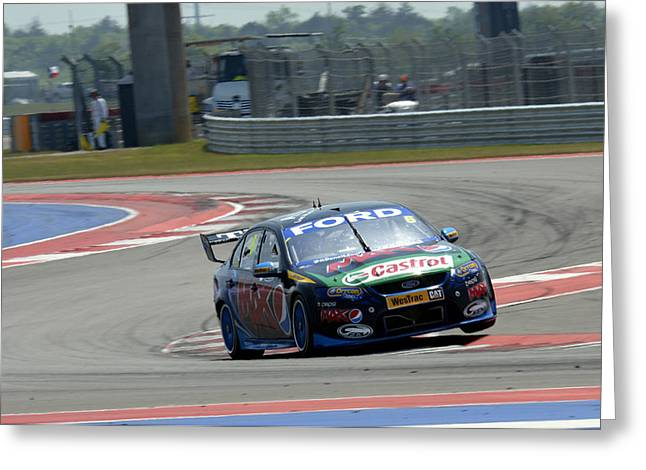 Pepsi Max Greeting Cards - Will Davison Pepsi Max Ford Falcon Greeting Card by Bourne Images