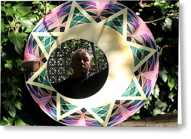Mosaic Portraits Mixed Media Greeting Cards - Will Robson  Greeting Card by Will Robson