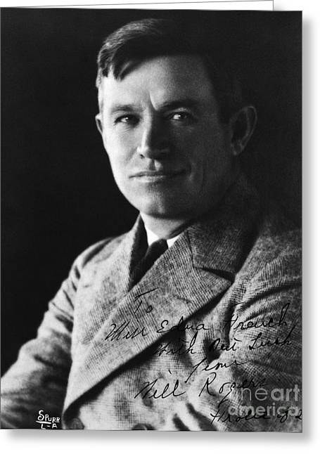 Will Rogers Greeting Card by H. Armstrong Roberts/ClassicStock