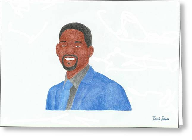 Bad Drawing Greeting Cards - Will Smith Greeting Card by Toni Jaso