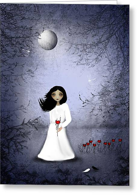 Goth Girl Greeting Cards - Will You Remember Me Greeting Card by Charlene Zatloukal