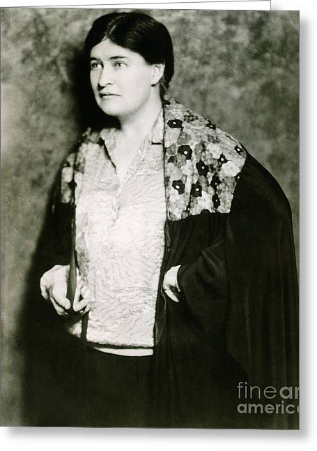 Pulitzer Greeting Cards - Willa Cather, American Author Greeting Card by Photo Researchers