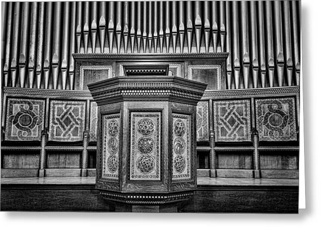 Willard Memorial Chapel Pulpit And Organ #3 Greeting Card by Stephen Stookey
