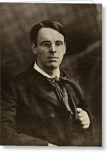 Yeats Greeting Cards - William Butler Yeats  1865-1939 . Irish Greeting Card by Ken Welsh