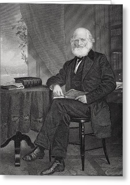 New York Evening Post Greeting Cards - William Cullen Bryant 1794 1878 Greeting Card by Ken Welsh