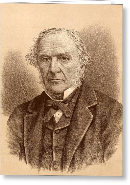 British Prime Minister Greeting Cards - William Ewart Gladstone,  1809-1898 Greeting Card by Ken Welsh