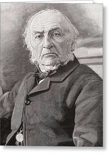 Liberal Drawings Greeting Cards - William Ewart Gladstone, 1809 To 1898 Greeting Card by Vintage Design Pics