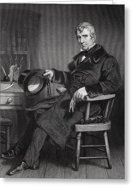 Fame Drawings Greeting Cards - William Henry Harrison 1773 To 1841 Greeting Card by Ken Welsh