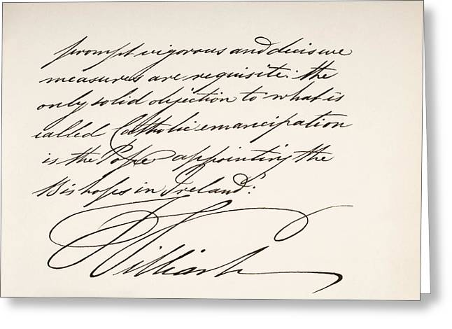 Autographed Greeting Cards - William Iv, 1765 To 1837. King Of Great Greeting Card by Ken Welsh