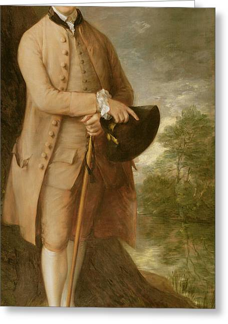 Costumed Figures In Landscape Paintings Greeting Cards - William Johnstone Pulteney Greeting Card by Thomas Gainsborough