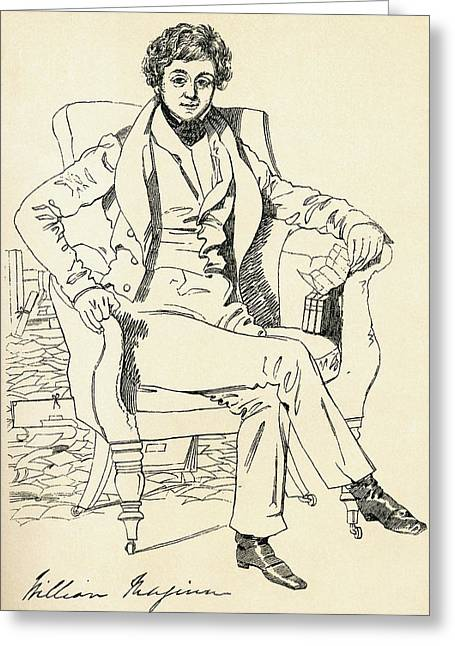 Autographed Greeting Cards - William Maginn The Doctor, 1794 - 1842 Greeting Card by Ken Welsh