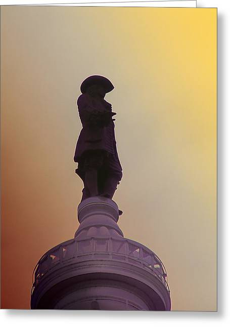 Quakers Digital Art Greeting Cards - William Penn Greeting Card by Bill Cannon