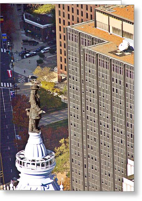 William Penn Greeting Cards - William Penn Philadelphia City Hall Greeting Card by Duncan Pearson