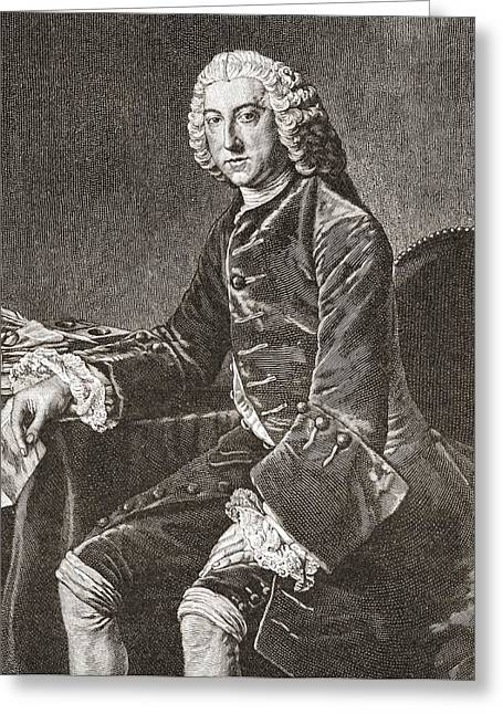 William Pitt, 1st Earl Of Chatham, 1708 Greeting Card by Vintage Design Pics