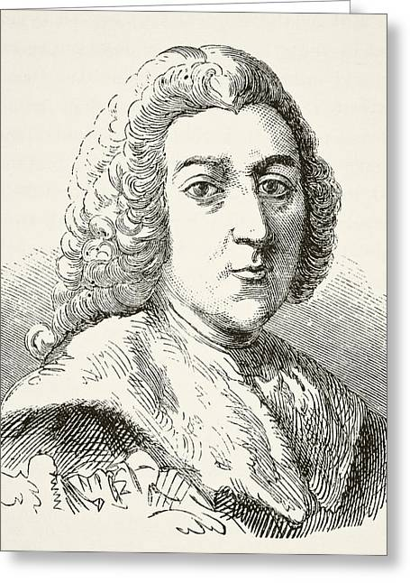 William Pitt The Elder 1st Earl Of Greeting Card by Vintage Design Pics